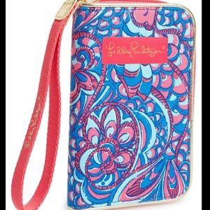 Lily Pulitzer zip case wristlet/phone case